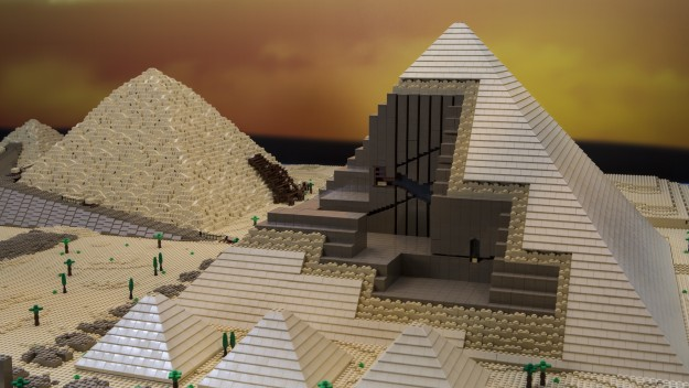 The Great Pyramid of Giza is the oldest and most intact Wonder of the Ancient World. The LEGO® model took 50 hours of designing and 45 hours of building.