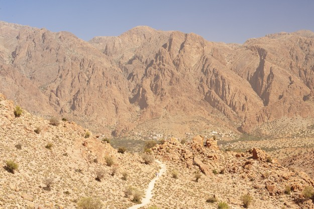 The mountain area around Tafraout