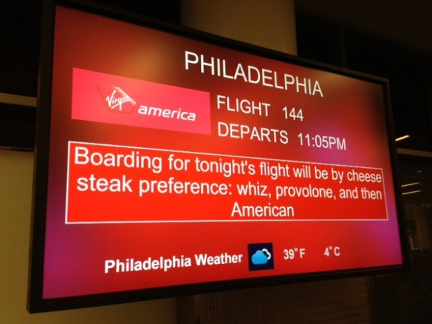 Steve Freitag posted this example of a departure sign.