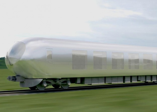 A Japanese railway company is proposing a reflective train.