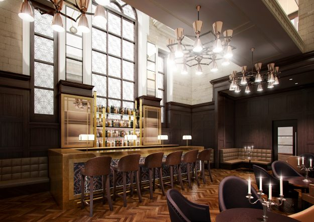 Courtroom bar.