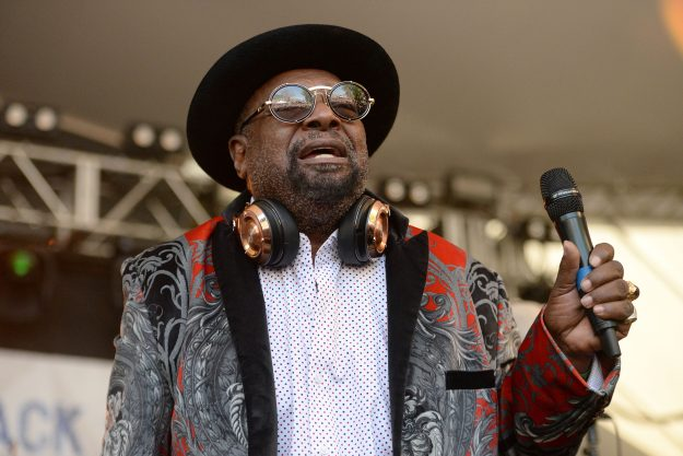 Singer George Clinton performs onstage with Parliament-Funkadelic