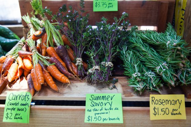 The annual study based findings on ratio of farmers markets among other criteria.