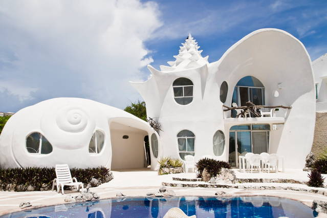 The Seashell House, Mexico. Image: Airbnb