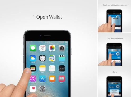 Physical credit cards use a Wallet app from Apple