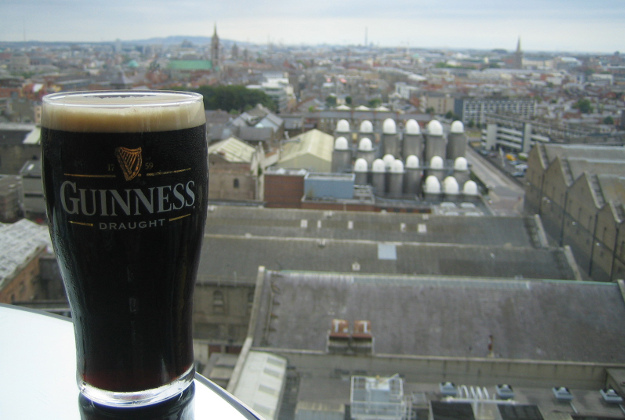 Pint at the Guinness Storehouse.