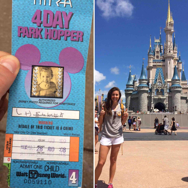 Chelsea Herline was able to use a 22-year-old Disneyland pass.
