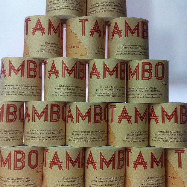 Tambo Tourism & Business Association has introduced its own toilet roll for travellers.