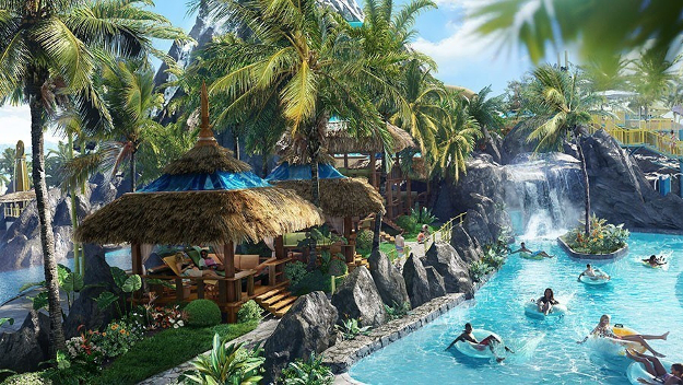 Renderings of the new water theme park.