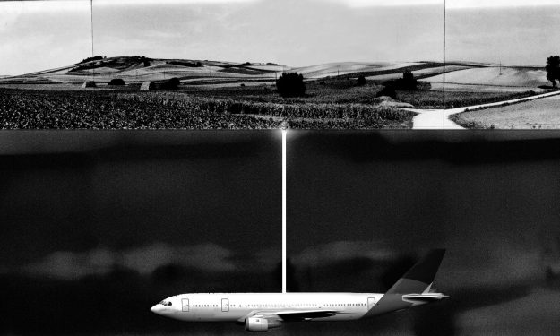 The proposed art installation will see the Boeing jet being buried 7 ft under