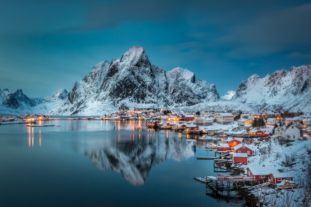 Reine is a small fishing village located on the Lofoten Islands in Norway.