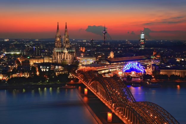 View from the Triangle Tower in Cologne.