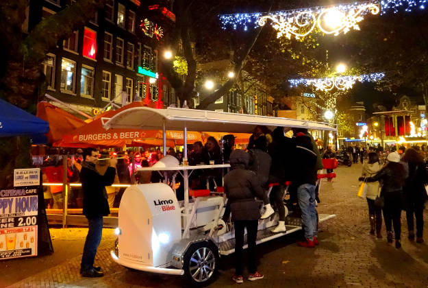 Beerbikes are to be banned in Amsterdam.