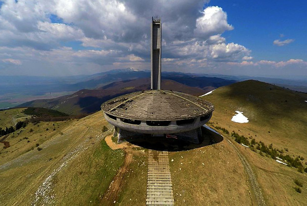 A view of The Buzludzha Monument built on the top of Stara Planina mauintain by the former Bulgarian communist regime, Sunday, April, 26, 2015. Photo by NurPhoto/NurPhoto via Getty Images.