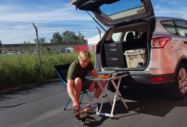 Edward Mjelde has been living out of an SUV for the past year.