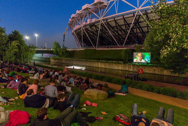 Floating Cinema At The Olympic Park London 2014