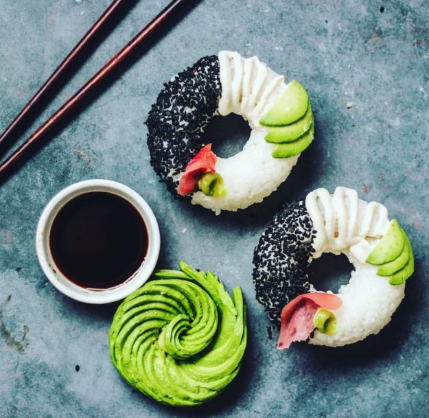 The sushi donut is the newest food trend. Image: So Beautifully Raw