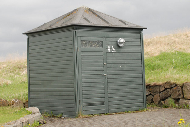 A rare public toilet in Iceland.