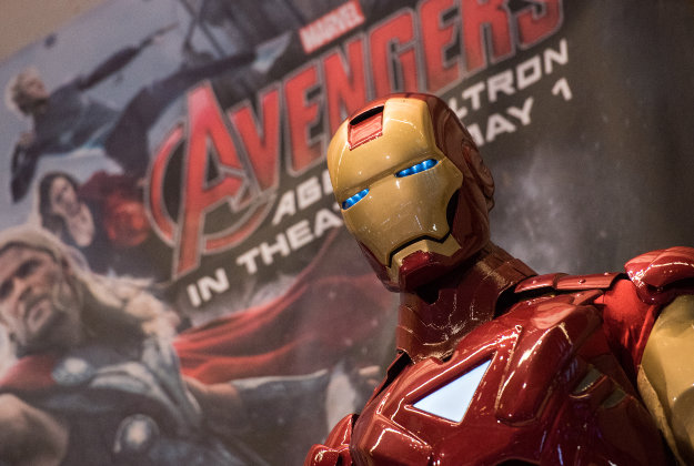 Guests can try on Ironman's suit.