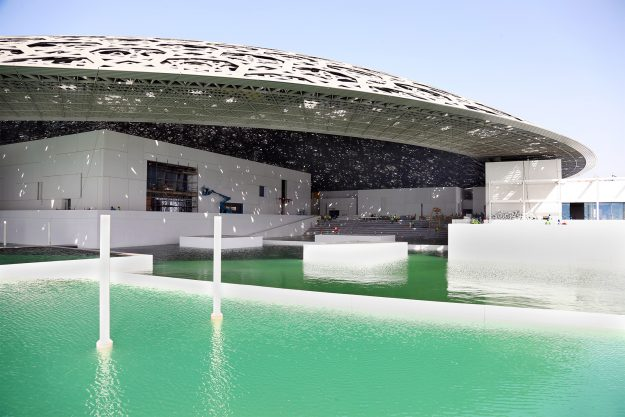 """The museum city is now """"floating"""" on the sea."""