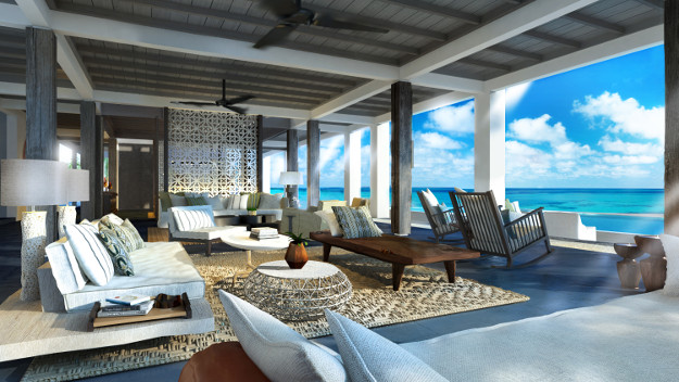 A rendering of the Voavah Beach House.
