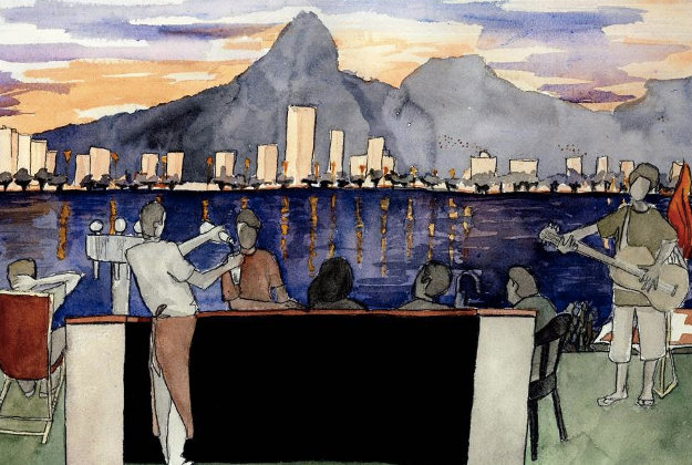 Artist's impression of one of Rio's Olympic hospitality houses