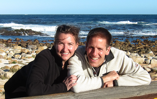 Husband and wife Daniel Noll and Audrey Scott have been travelling for 14 years. Image: Uncornered Market