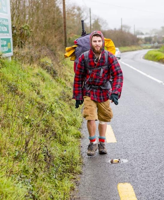 Alex Ellis Roswell, from England has been walking the coastlines of the UK and Ireland the UK and Ireland for the past two years and is still only halfway through.