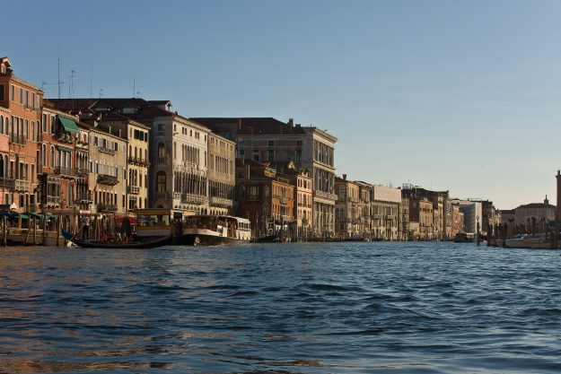The famous Grand Canal in Venice.