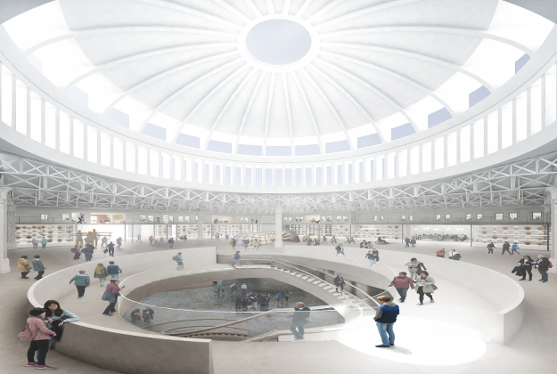 The dome will be designed to bring in the light