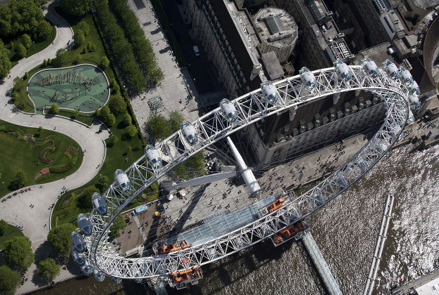 Viewing London's Eye from above its lofty perch is an exhilarating experience for passengers