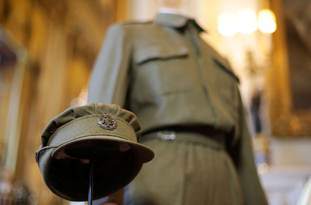 An Auxiliary Territorial Service overalls and cap worn by Princess Elizabeth Whilst serving in the wartime ATS.