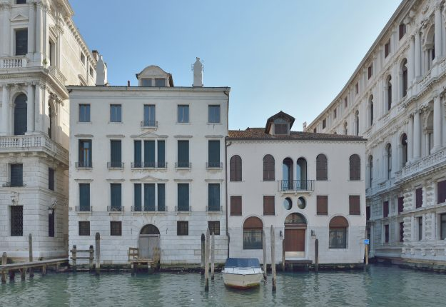 The property overlooks the famous Grand Canal in Venice.