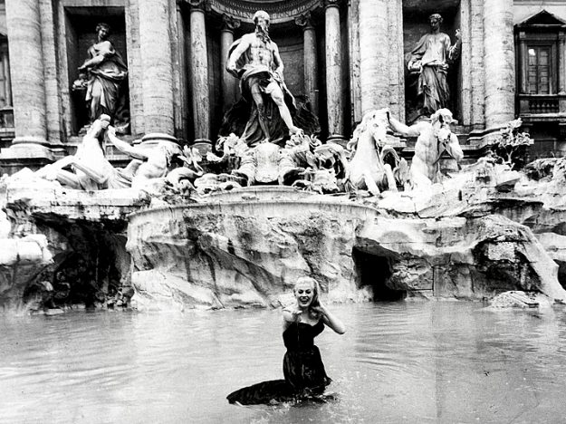 The woman tried to recreate La Dolce Vita's most iconic scene.