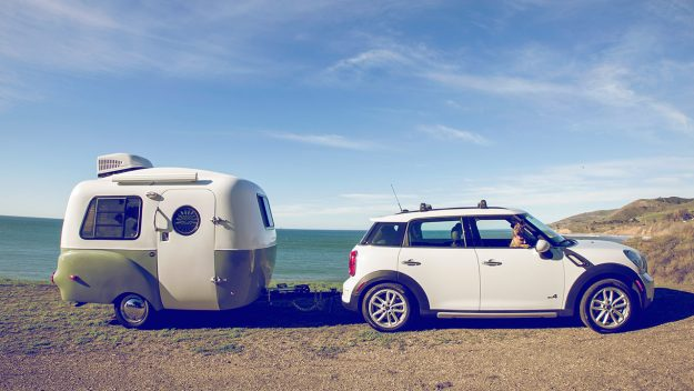 The camper is light enough to be pulled by smaller cars.
