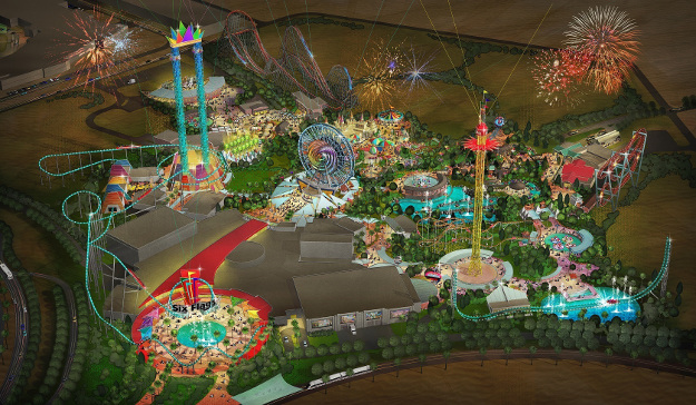 Six Flags Dubai will have 27 rides and attractions throughout the intricately themed park that will appeal to thrill-seekers of all ages, including world-record breaking roller coasters, water slides, shows and a variety of food offerings.