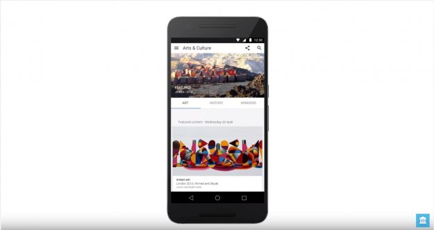 The new Google Art and Culture app brings a wide range of interactive topics straight to the user.