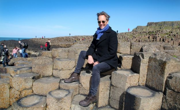 Richard E Grant at the Giant's Causeway.