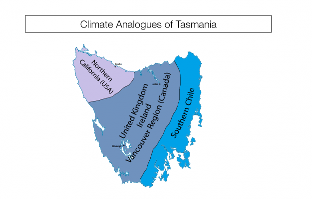 Surprising climate maps show similarities between countries a climate analogue map of tasmania gumiabroncs Image collections