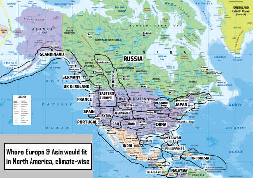 Surprising climate maps show similarities between countries