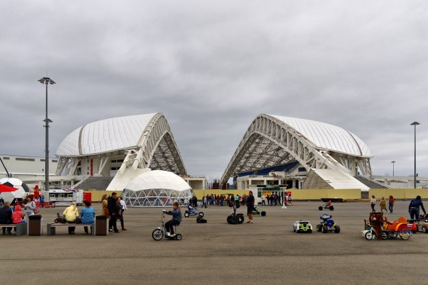 Fisht Olympic Stadium in Sochi was used in the 2014 Winter Olympic Games.