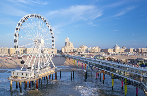 The Ferris Wheel at Schevenigen, The Hague is the first in Europe built over the sea.