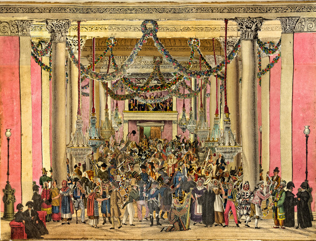 Masquerade Haymarket published by S.J. Fuller London ca. 1826 (c) Victoria and Albert Museum, London.
