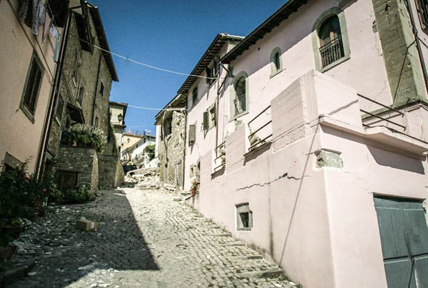 The town of Accumoli after the quake.
