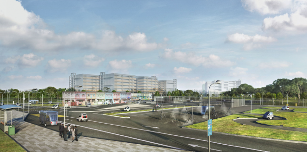 The CETRAN Test Circuit that will be jointly developed by LTA and JTC to support the Centre's research on testing standards for SDVs in Singapore.