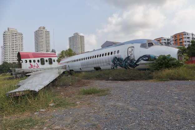 It is reported that the site is operated by a woman that lives there in a converted fuselage.