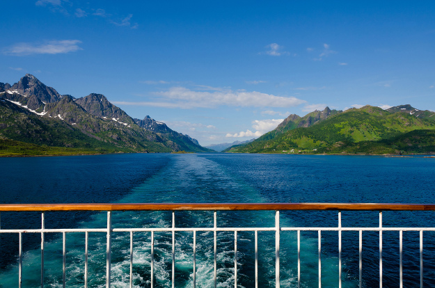 Raftsundet is considered one of highlights of Hurtigruten cruise that goes along Norwegian coast.