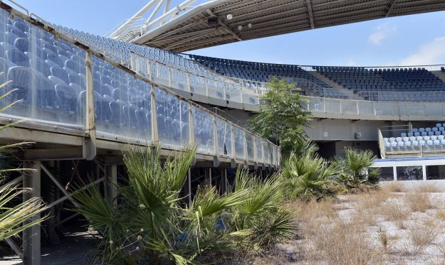 The Faliro Olympic Complex in Athens has suffered from disrepair since the games.