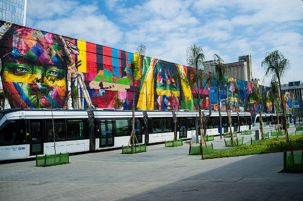variety of free events will be held during the Rio Olympics, including on Boulevard do Porto, where street artist Eduardo Kobra has painted a large mural.