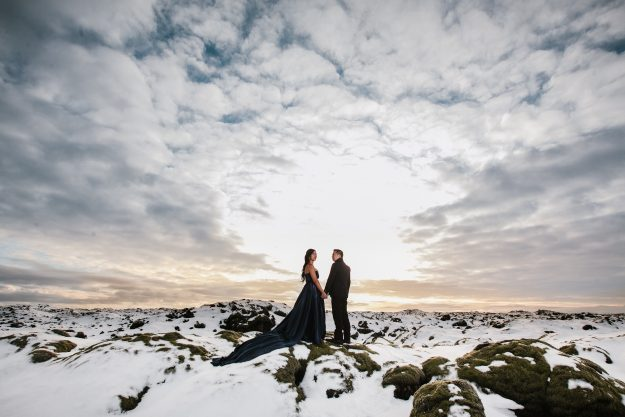 Cici and Clement on their epic Iceland engagement shoot.